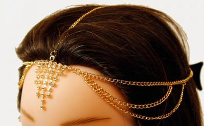 1006 Head Jewelry Chain GOLD - CLEARANCE