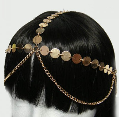 1016 Head Jewelry Chain GOLD - CLEARANCE