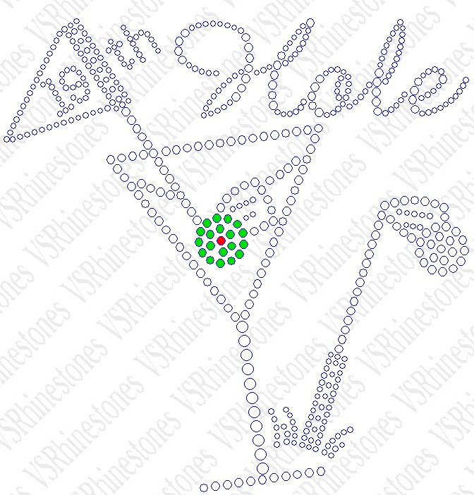 19th Hole Rhinestone Transfer