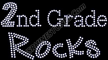 2nd Grade Rocks Rhinestone Transfer