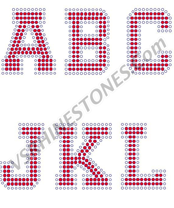 Varsity Letters/Numbers - 3 inch Rhinestone Transfer