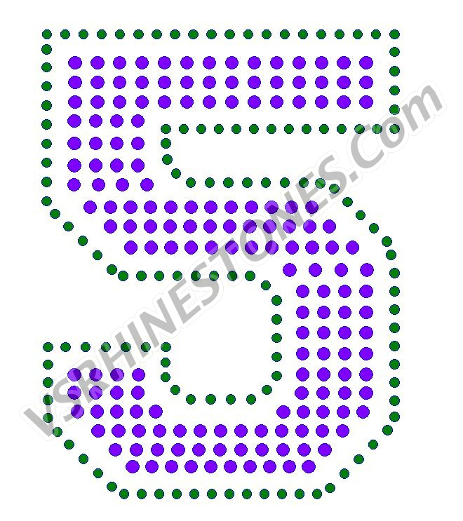 5 - Number Rhinestone Transfer