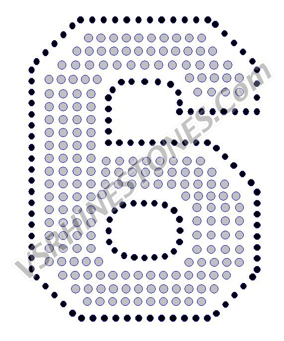 6 - Number Rhinestone Transfer