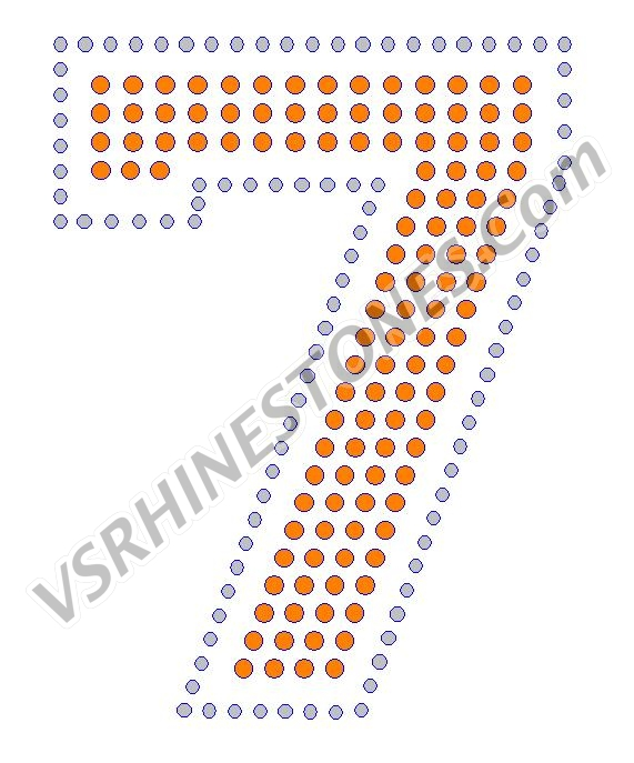7 - Number Rhinestone Transfer