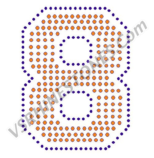 8 - Number Rhinestone Transfer