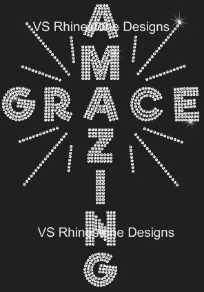 Amazing Cross Rhinestone Transfer