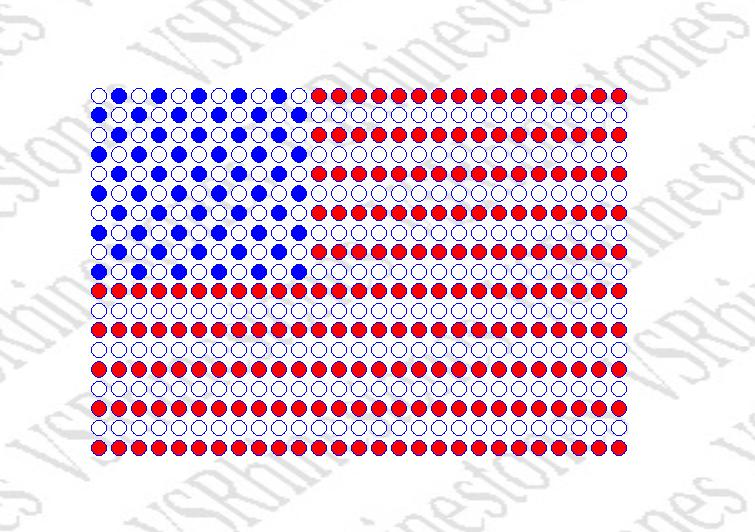 American Flag Filled - CAR DECAL