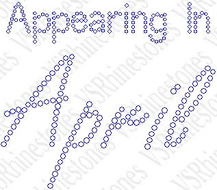 Appearing In April Maternity Rhinestone Transfer