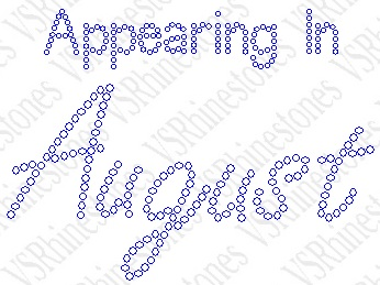Appearing In August Maternity Rhinestone Transfer