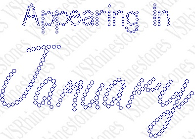 Appearing In January Maternity Rhinestone Transfer