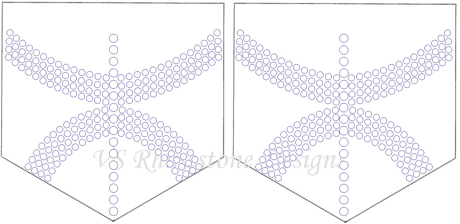 Arch Rhinestone Pocket Transfer