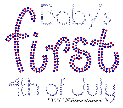 Baby's First 4th of July Rhinestone Transfer