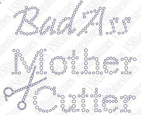 Bad Ass Mother Cutter Rhinestone Transfer - Shirt Size