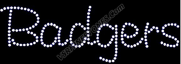 Badgers Rhinestone Transfer - Tab