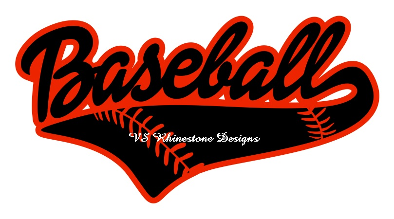 Baseball Lace Word Vinyl Transfer