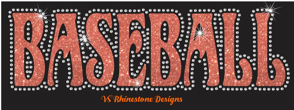 Baseball UN - Rhinestone Transfer Cut File Combo