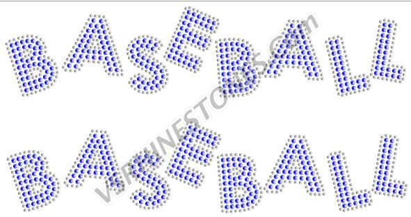 BASEBALL Sequin Word (2 per order) Pink