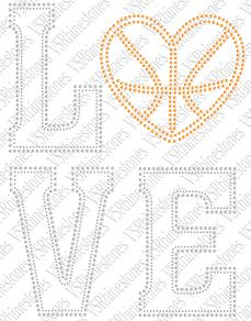 Love Basketball - Sequin Transfer