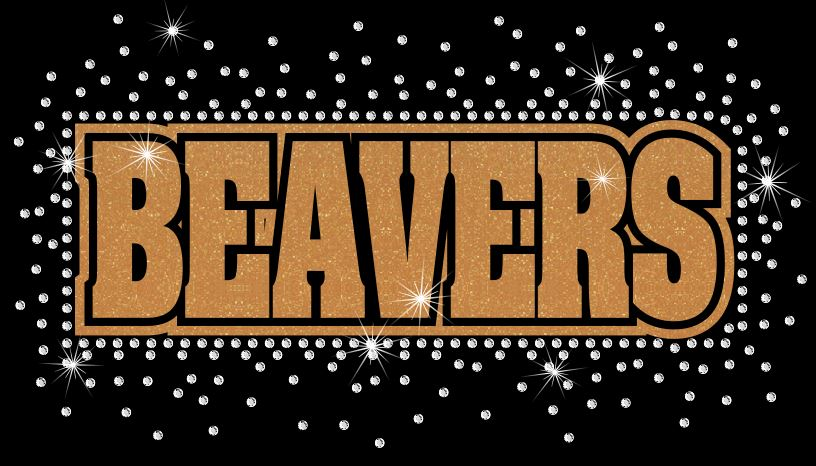 Beavers Reverse Vinyl and Rhinestone Transfer