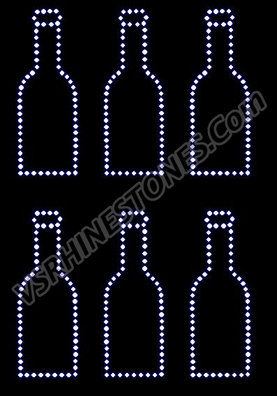 Bottle Rhinestone Transfer Mini (6)