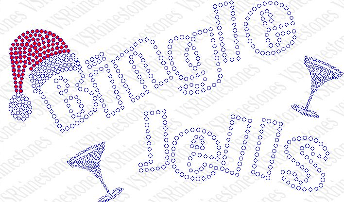 Bingle Jells Martini Rhinestone Transfer