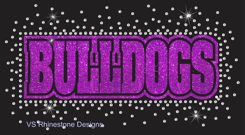 Bulldogs Reverse Vinyl and Rhinestone Transfer