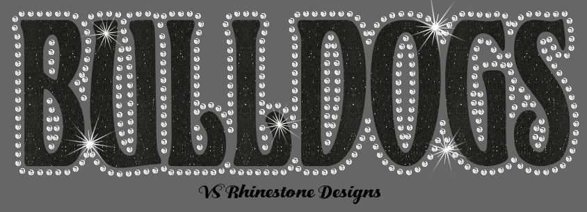 Bulldogs UN - Rhinestone Transfer Cut File Combo