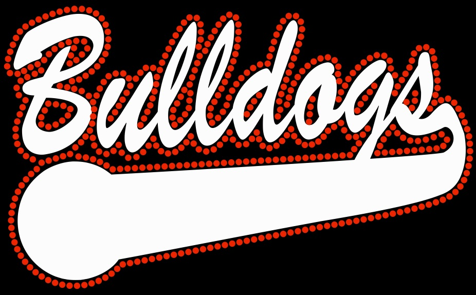 Bulldogs Multimedia Rhinestone and Vinyl Transfer