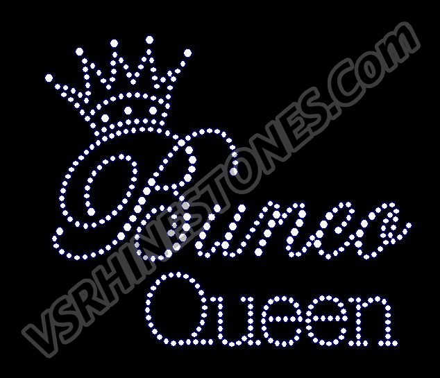 Bunco Queen Rhinestone Transfer