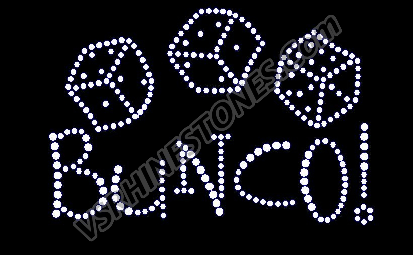 Bunco Rhinestone Transfer