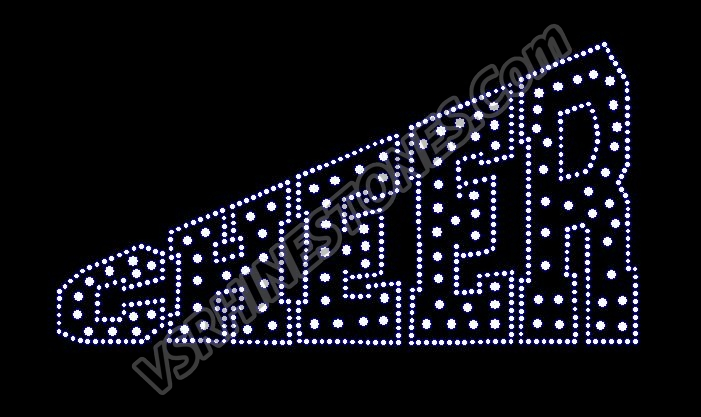Cheer Dots Rhinestone Transfer