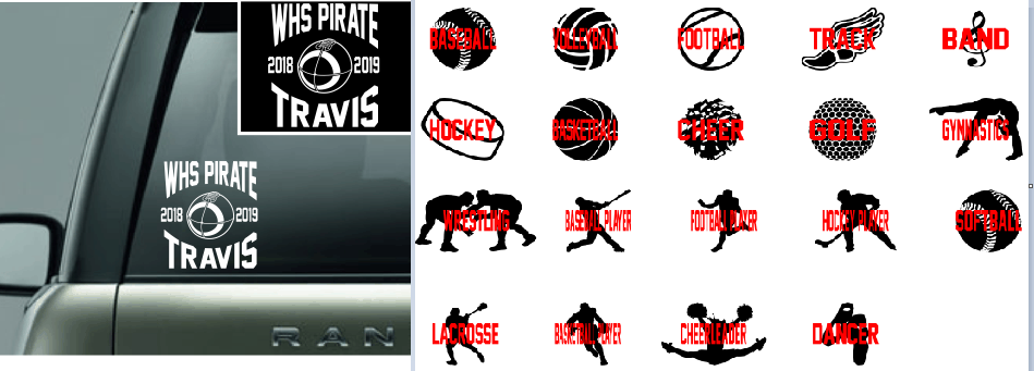 School Sport Personalized Window Decal