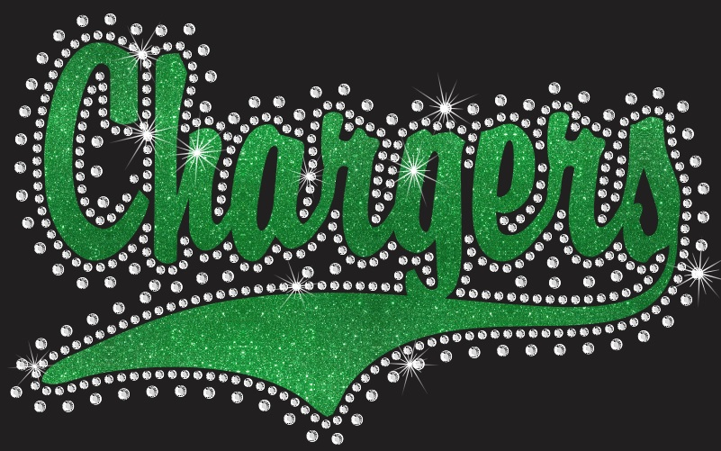Chargers Rhinestone and Sequin Transfer Combo (1)