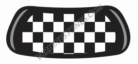 Checker Flag Eye Blacks (set of 2)
