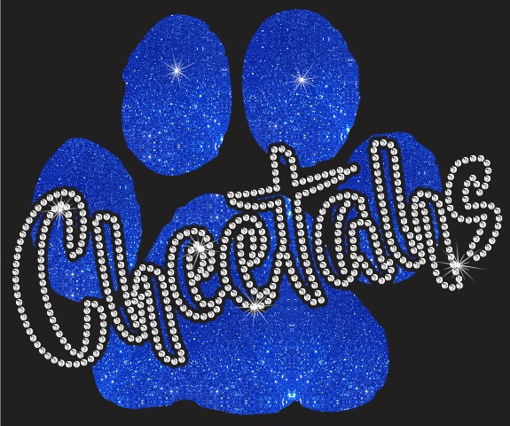 Cheetahs Paw CO Vinyl and Rhinestone Transfer