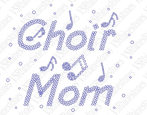 Choir Mom Rhinestone Transfer
