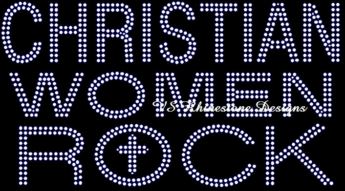 Christian Women Rock Rhinestone Transfer