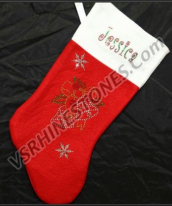 Stocking - Christmas Bells Personalization Included