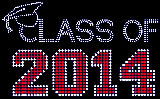 Class of Year Rhinestone Transfer Personalization
