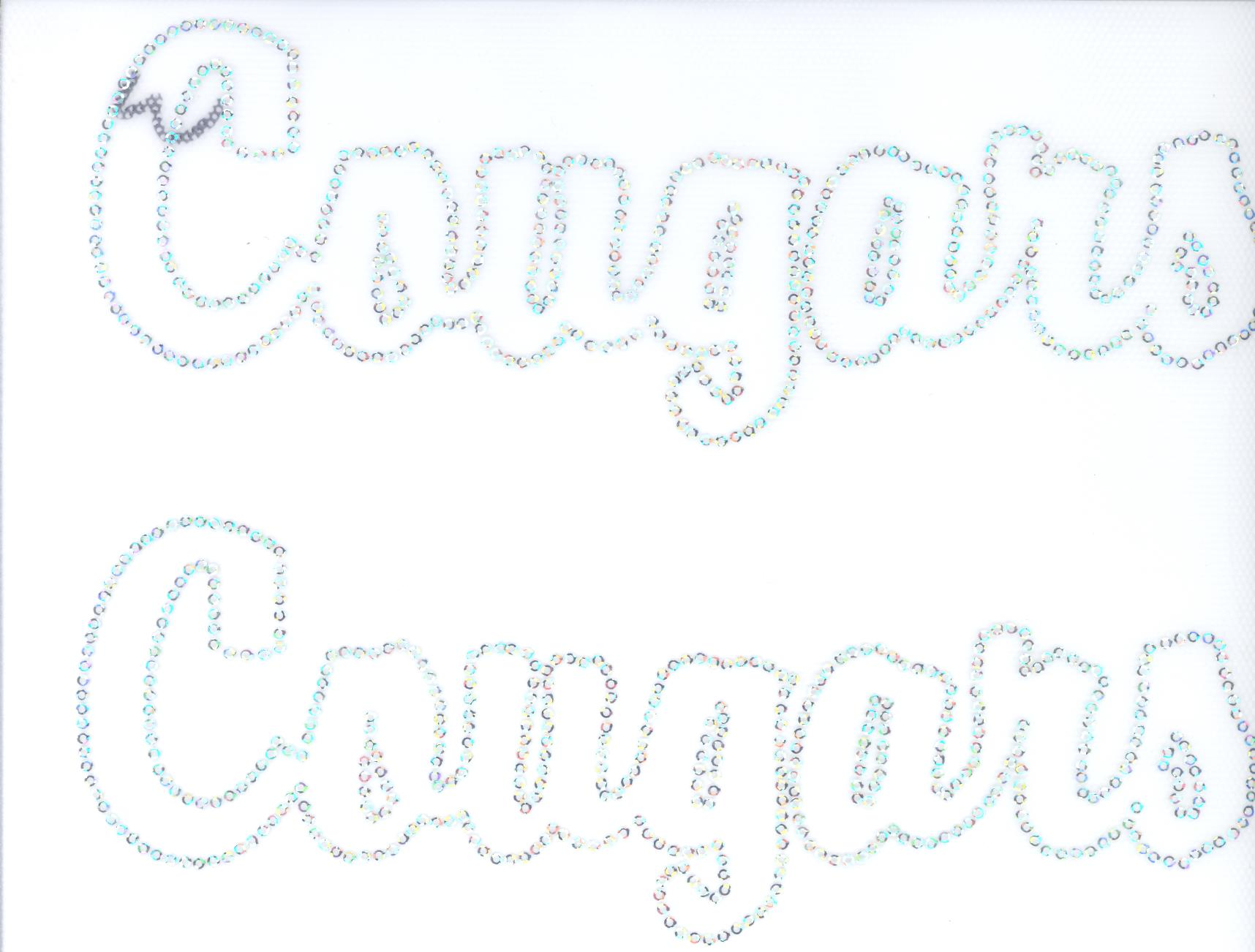 Cougars Sequin Outline - Set of 2