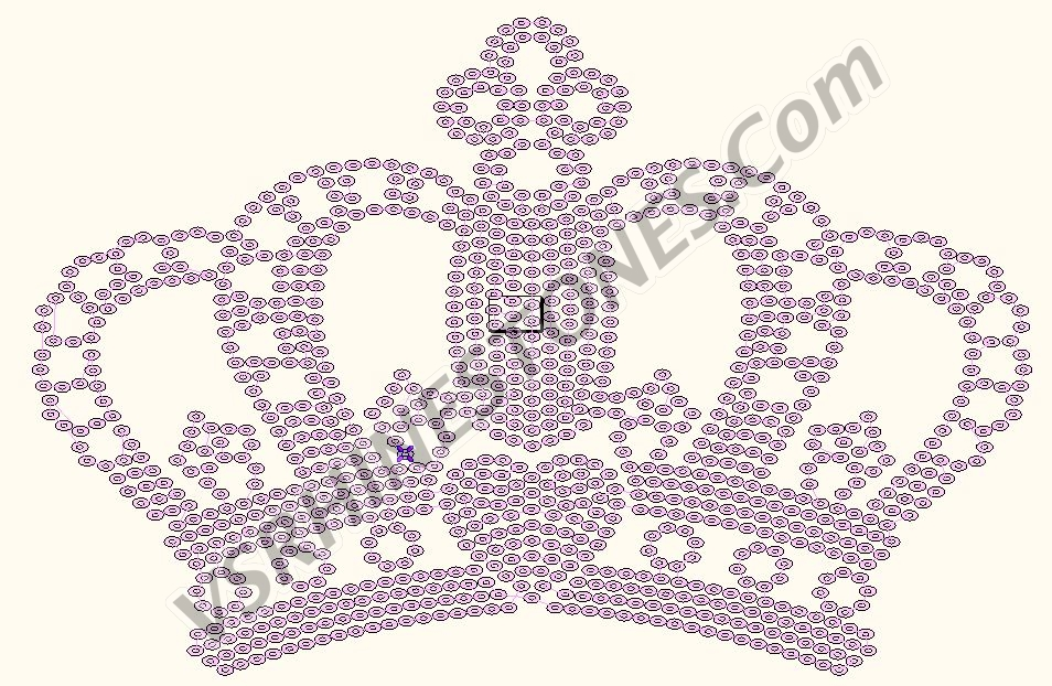 Crown Large - Sequin Transfer