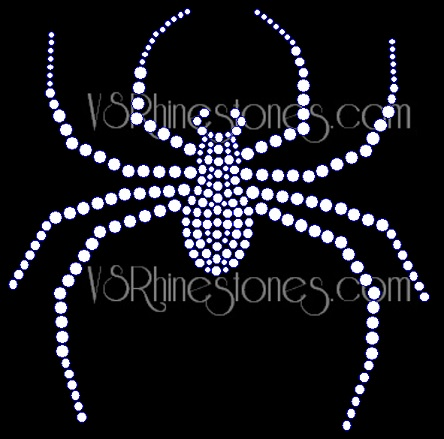 Large Spider Rhinestone Transfer