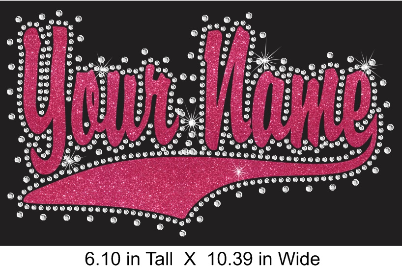 Custom Swoosh Vinyl and Rhinestone Transfer