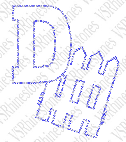 D Fence Football Rhinestone Transfer