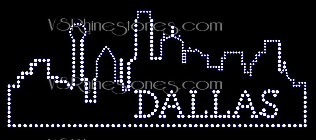Dallas Skyline Rhinestone Transfer