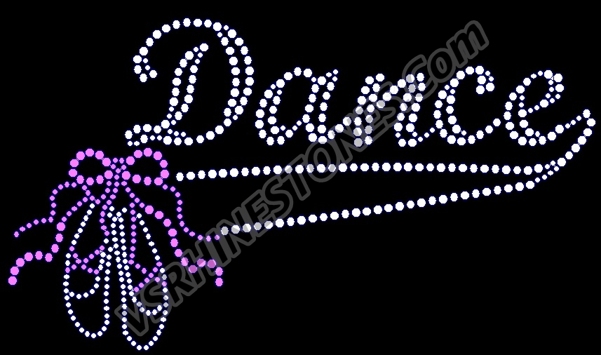 Dance Swosh Rhinestone Transfer