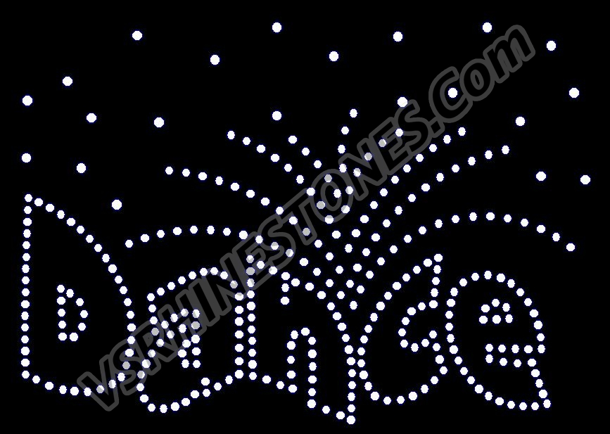 Dance Burst Rhinestone Transfer