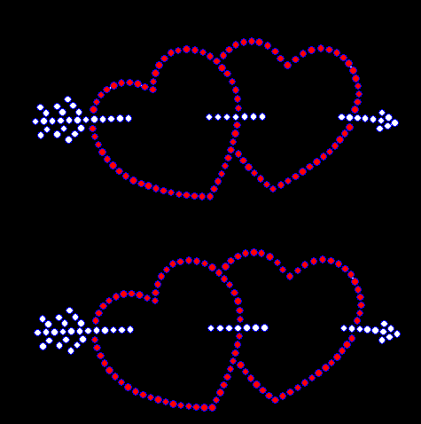 Double Heart with Arrow - SET OF 2