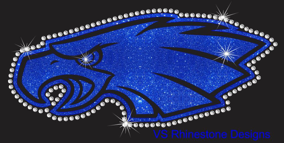 Eagle Mascot Vinyl and Rhinestone Transfer