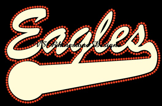 Eagles Multimedia Rhinestone and Vinyl Transfer